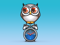 Owl on a clock