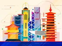 Hong Kong - infographic element