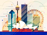 Sydney - infographic element