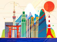 Tokyo - infographic element