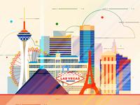 Las Vegas - infographic element