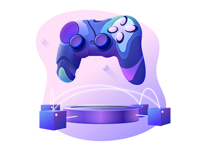 Icon illustration #3 bitcoin cryptocurrency vector blockchain network design gradient server abstract game controller token