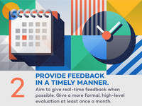 Provide feedback in a timely manner - infographic element