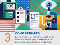 Come prepared - infographic element