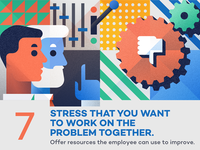 Stress that you want to work... - infographic element