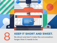 Keep it short and sweet - infographic element