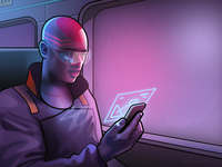 Guy on a train - infographic header