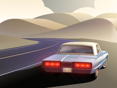 Literary Road Trip - infographic header affinity vector mountain novel literature vintage street design illustration vehicle car book