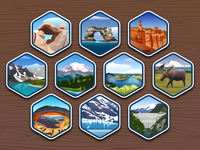 40 US National Parks icons #11-20 - infographic elements