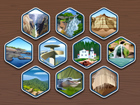 Top 40 National Parks icons #31-40 - infographic elements