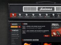 Guitar shop webdesign