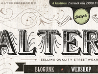 Alterego clothing shop site redesign