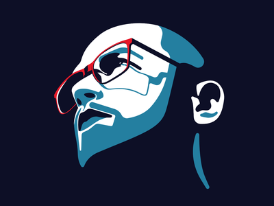 Guy looking in the distance affinity man minimal flat illustration head face portrait design character