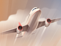 Airplane - infographic element