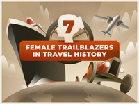 7 Female Trailblazers in Travel History - infographic header
