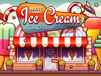 Ice Cream Shop - infographic header