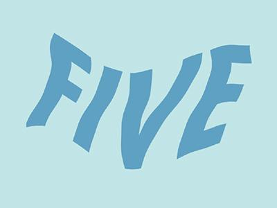 FIVE water wavetypography typography wave