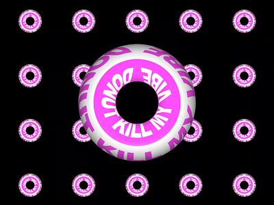 C4D experimentation kinetic typography typography animation 3d 3d animation motion design motion graphics motion after effects motion graphics after effects animation after effects donut logo branding minimal illustrator illustration icon design flat