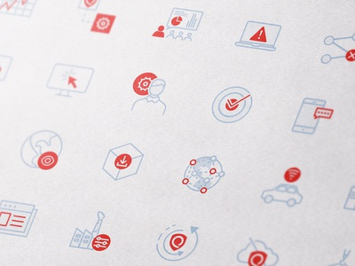 Icon set for IT security icons brand illustrator mobile ios identity minimal website flat web app icon branding vector ui design logo illustration