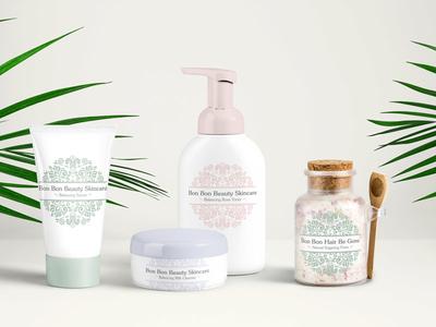 Bon Bon Beauty Identity Design logo packaging labels identity design