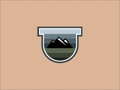 Mountain Adventures Badge Icon Design badge design logo vector icon