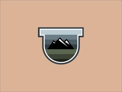 Mountain Adventures Badge Icon Design badge design logo vector icon