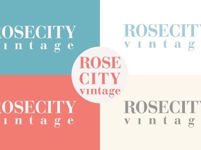 Rose City Vintage - New Logo thrift store logo vintage store logo branding logos identity design logo design