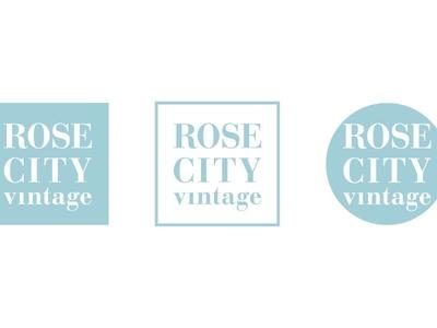 Rose City Vintage - Logo Variations thrift store logo vintage store logo branding logos identity design logo design