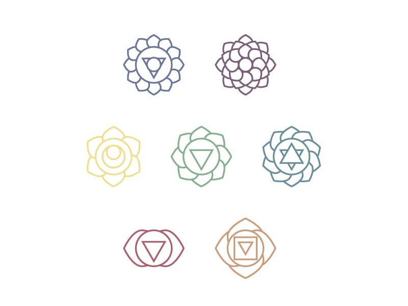 Lightrays Brand Elements graphicdesgn small business branding chakras reiki icondesign logodesigner logodesign