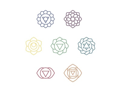 Lightrays Brand Elements graphicdesgn small business branding chakras reiki icondesign logodesigner logodesign