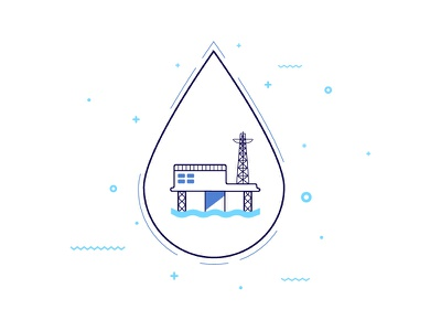 Oil Drop vector rig drilling oil liquid station gas geometric energy droplet drop