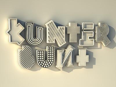 kunterbunt 3d 3dlettering c4d cinema4d vray signage neon neonsign vintage retro lettering 3dtype