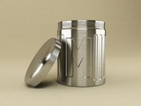 M on a can