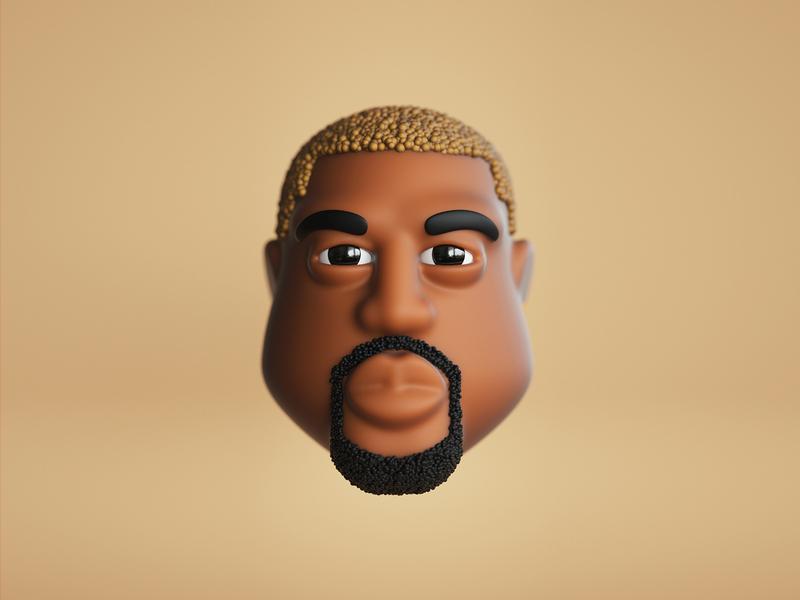 Kanye rapper emoji icon characterdesign character cgi 3dillustration c4d illustration 3d yeezy hiphop rap kanye west kanye