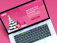 One New Year invitation to Dribbble