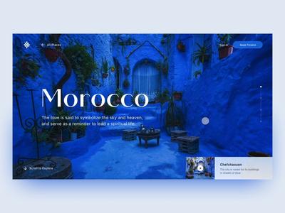 Vertical Slider Prototype ui design scrolling scroll typography animation user interface web design grid layout tourism morocco interface figma flinto prototype slider vertical ux ui