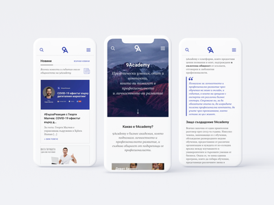 9Academy Website Redesign - Mobile Version web design mobile responsive app ui ux 9academy 9a interface redesign website user interface news text typography iphone mockup webdesign layout grid
