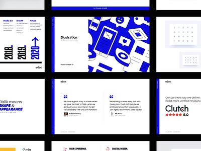Oblik Studio Credential interface ui pptx presentations slide ppt oblik graphic design case study studio design presentation template presentation design deck pitch credential figma layout presentation