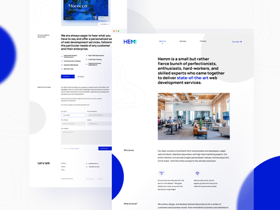 Hemm Studio Portfolio - About figma wen design user interface landing minimalistic typography layout clean about homepage case study mobile desktop responsive website design portfolio interface ux ui