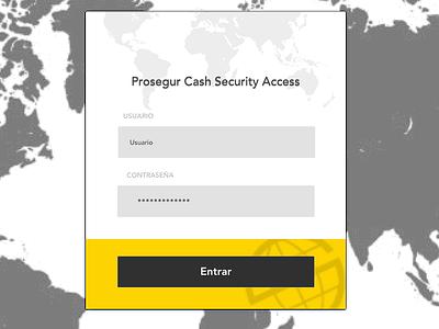 Login for Prosegur web ux  ui ui login prosegur