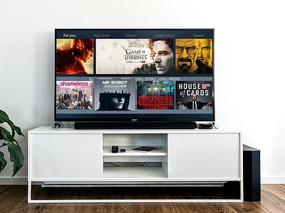 Apple TV prototipe netflix app apps application prototipe desktop smartv apple appletv series ui  ux ui ios inspiration design app