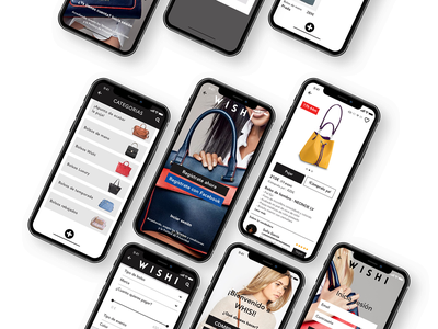 Wishi App mockup iphonex handbags bag fashion fashion app events cool colors concept app branding black prototype iphone ios ui  ux inspiration design apple app ui