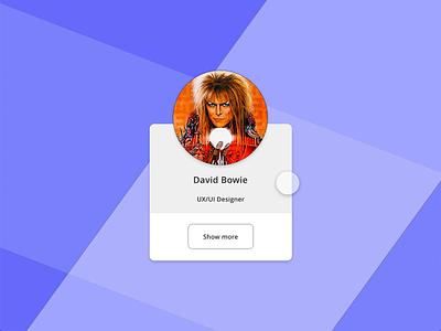 Auto-Animate Adobe XD David Bowie user experience user interface adobe draw animations concept tap cards uiux ui davidbowie auto-animation adobe xd