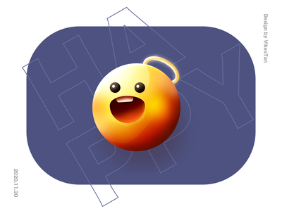 Happy emoji ps 3d big sur cute ui illustration happy emoji expression