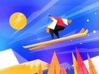 TAN#35 skiing