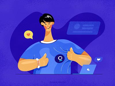Join a team team illustration