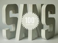 100% Serif-Free
