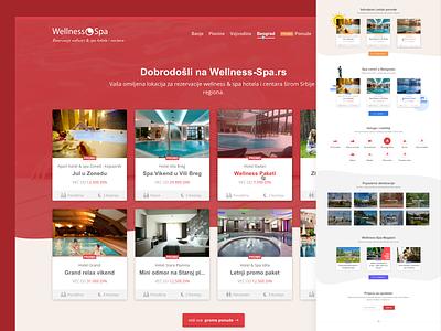 Website Design for Booking Wellness and Spa Hotels page booking web design design footer site web hero cards lp landing hotel mobile spa wellness redesign website