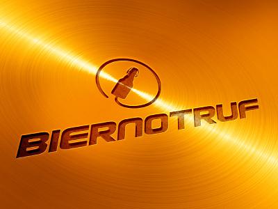 Biernotruf logodesign design notruf emergency beer logo