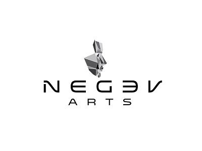 Negev Arts logodesign up make shards face art negev logo